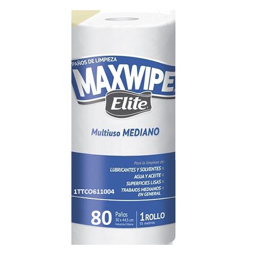 PAÑO MAXWIPE MEDIANO ROLLO X 80 PAÑOS