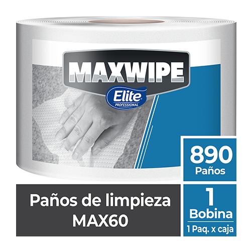 MAXWIPE BOBINA MAX60 - 890 Paños Blanco