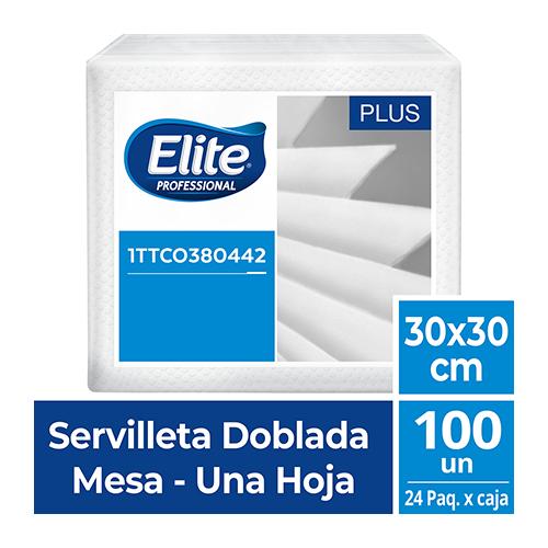 SE ELITE BLANCA DOBLADA 1/4  30x30  x 100