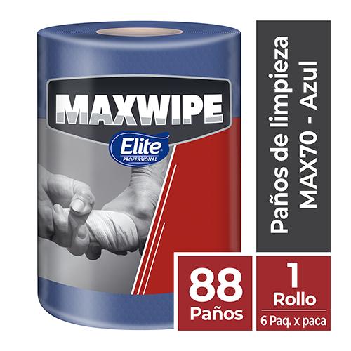 MAXWIPE ROLLO MAX70 - 88 Paños Azul - Uso Mecánico