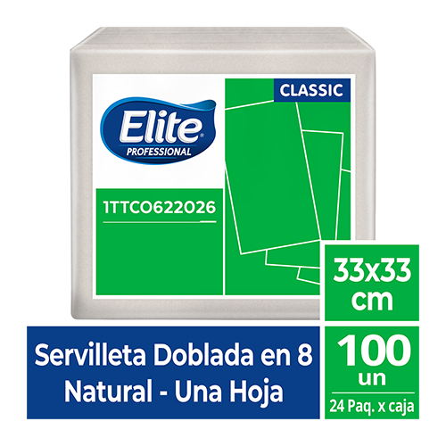 SE ELITE NATURAL 33 x 33 - 100 unid